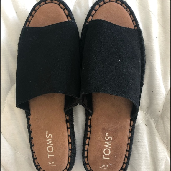 Toms Shoes - Tom's Clarita Suede Espadrille W8.5